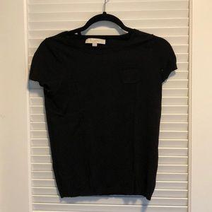 Knit black tee